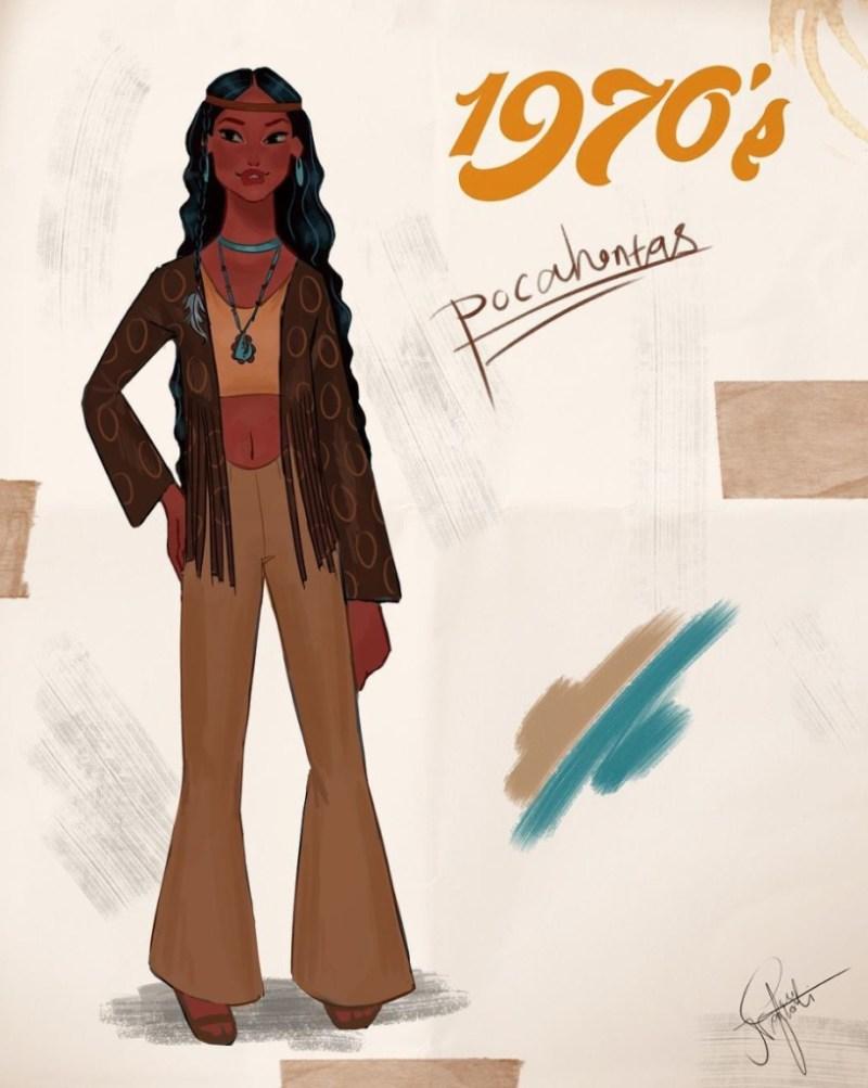 Amit Naftali, un joven ilustrador, dibuja a las princesas de Disney en distintas épocas - amit-naftali-un-joven-ilustrador-dibuja-a-las-princesas-de-disney-en-distintas-epocas-princess-google-online-verano-viajes-google-zoom-instagram-tiktok-foodie-recetas-como-hacer-a-donde-ir-summe-4