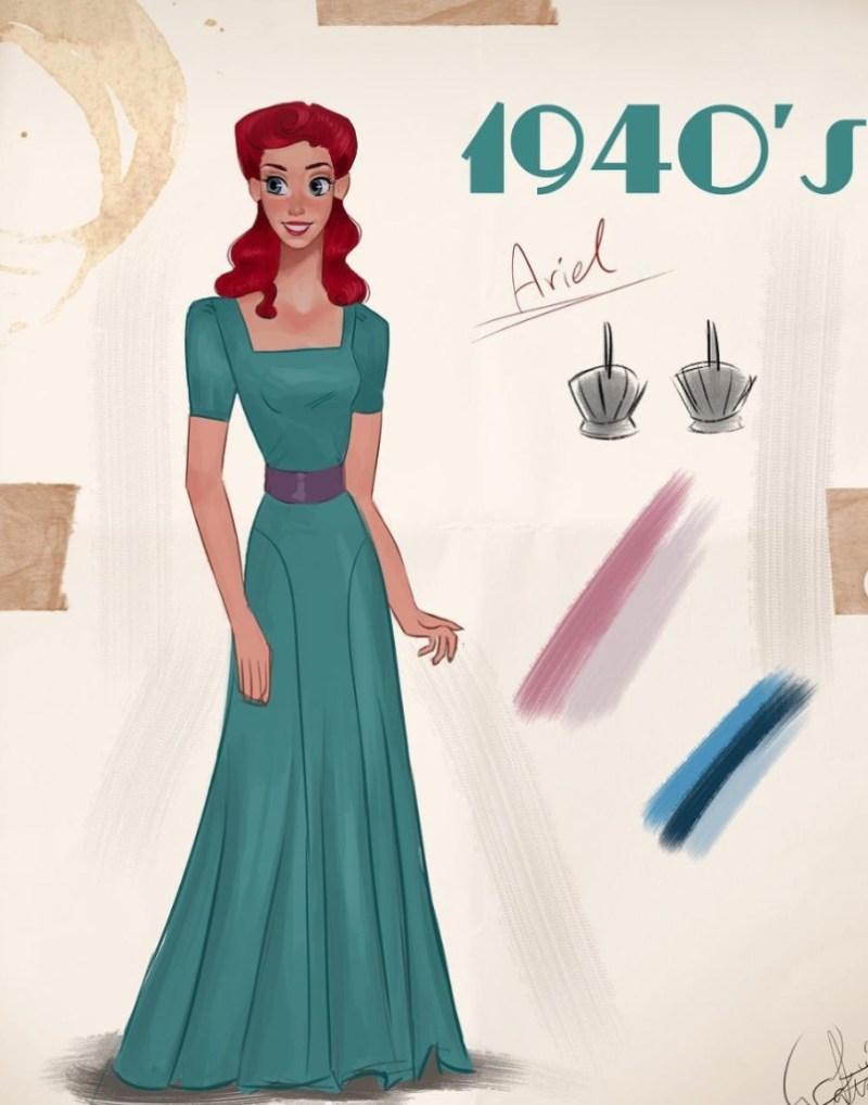 Amit Naftali, un joven ilustrador, dibuja a las princesas de Disney en distintas épocas - amit-naftali-un-joven-ilustrador-dibuja-a-las-princesas-de-disney-en-distintas-epocas-princess-google-online-verano-viajes-google-zoom-instagram-tiktok-foodie-recetas-como-hacer-a-donde-ir-summe-7