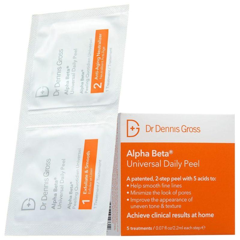 Chrissy Teigen y su magnífica rutina para cuidar la piel - chrissy-teigen-y-su-magnifica-rutina-de-cuidado-de-la-piel-dr-dennis-gross-skincare-alpha-beta-universal-daily-peel