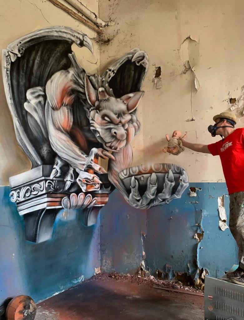 @scaf_oner y sus impactantes murales 3D - george-rousse-y-sus-impactantes-murales-3d-tercera-dimension-artista-google-viajes-verano-coronavirus-google-online-nueva-normalidad-restaurantes-10