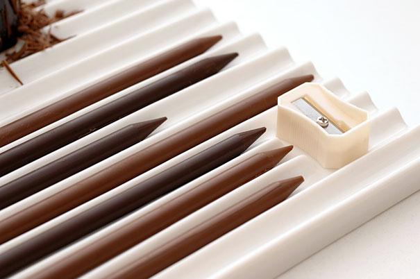 15 obras de arte hechas con chocolate - lapices-de-chocolate-15-obras-de-arte-hechas-con-chocolate