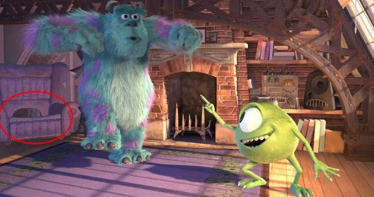 10 detalles que probablemente no habías notado en la película Monsters, Inc. - 8-sillon-de-sully-10-detalles-que-probablemente-no-habias-notado-en-la-pelicula-de-monsters-inc