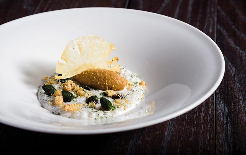 The Gourmet Masters: golf y gastronomía en su máxima expresión - hotbook_hbnews_gourmet_millesime_perlas-de-tapioca-leche-de-coco-pincc83a-rostizada-helado-de-pincc83a-y-petalos-de-menta