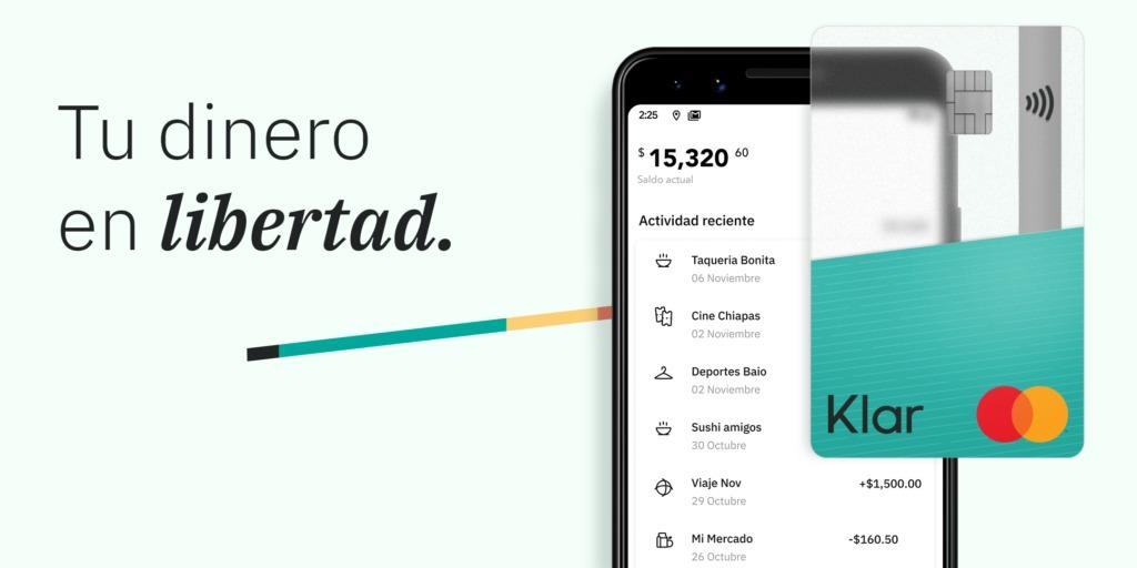 Klar, una alternativa 100% digital a la banca en México