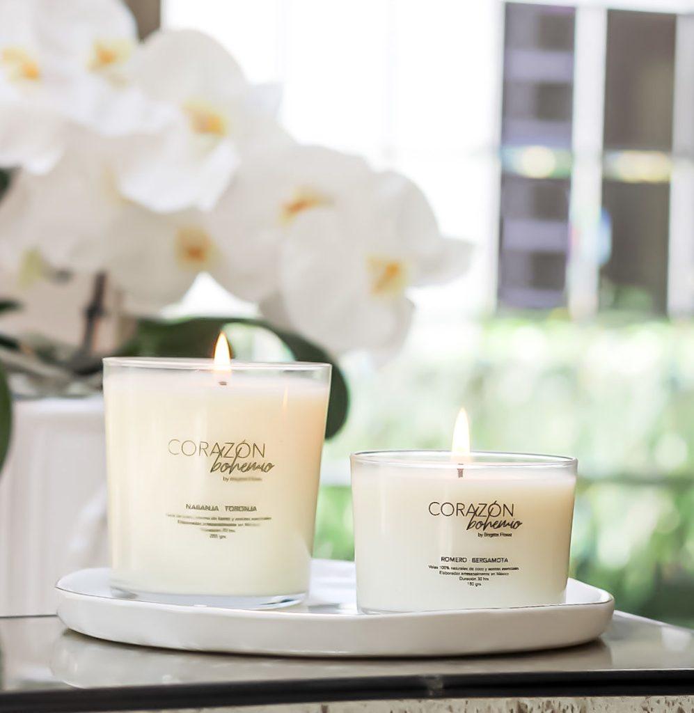 Conoce Corazón Bohemio, velas decorativas 100% naturales