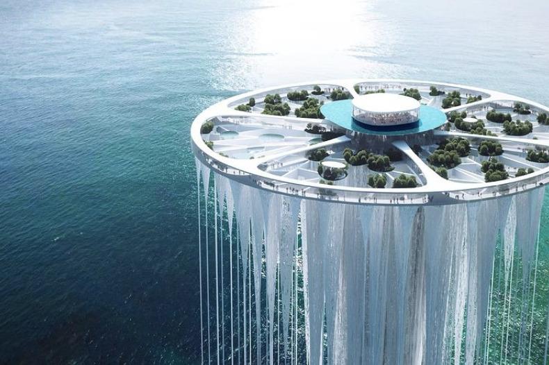 La Torre Eiffel del siglo XXI parece estar flotando sobre el agua en Shenzhen, China