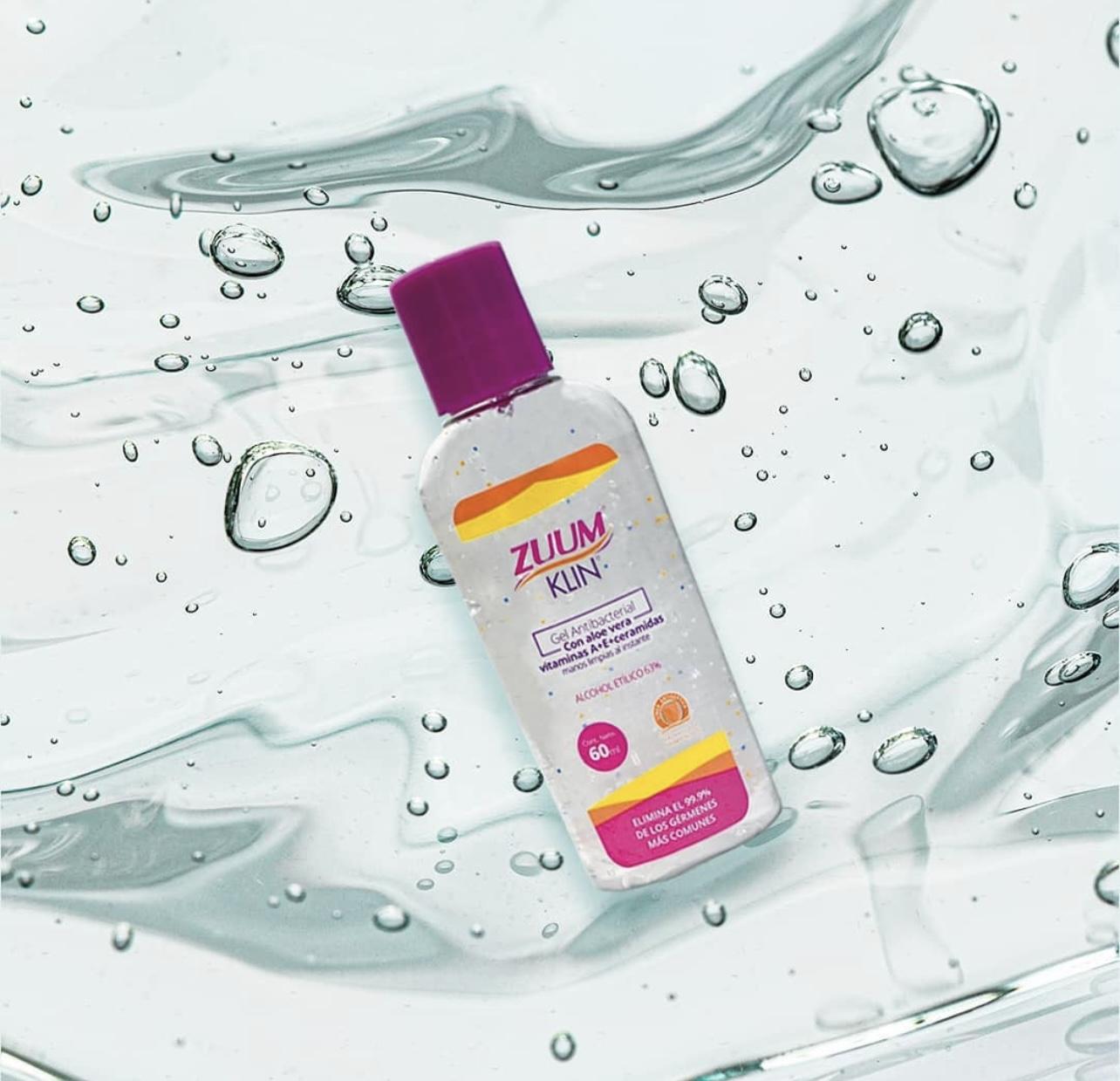 Desinfecta tus manos con Zuum, el gel antibacterial más puro