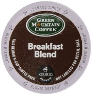 Keurig, Green Mountain Coffee, Breakfast Blend, K-Cup packs, 72 Count
