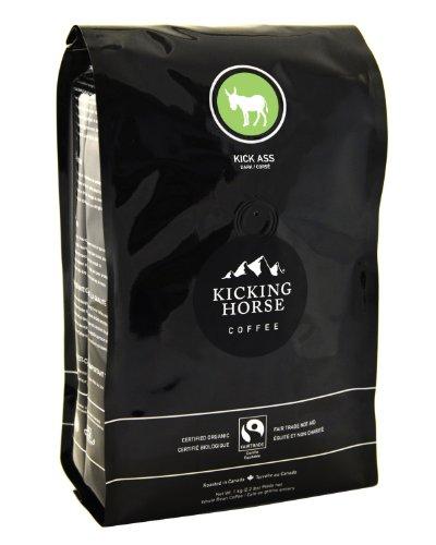 Kicking Horse Coffee Kick Ass Dark, Whole Bean Coffee, 2.2-Pound Pouch