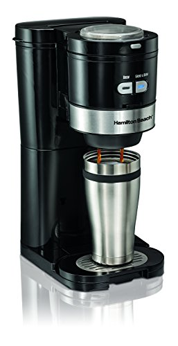 Hamilton Beach 49989 Grind and Brew Single Serve Coffeemaker, Small, Black