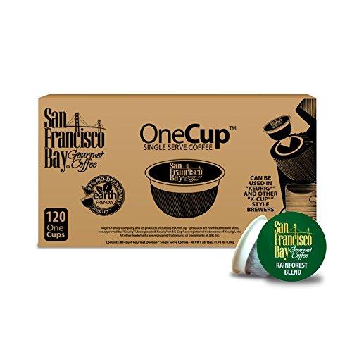 San Francisco Bay OneCup, Organic Rainforest Blend, 120 Single Serve Coffees