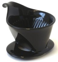 Bee House Ceramic Coffee Dripper – Small – Drip Cone Brewer (Black)