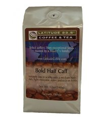 Latitude 23.5 Coffee and Tea Bold Half Caffeine Coffee, 12 Ounce