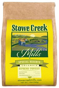 Stowe Creek Mills COLOMBIAN POPAYAN Special Reserve, Scientifically selected and roasted – whole bean – 12oz