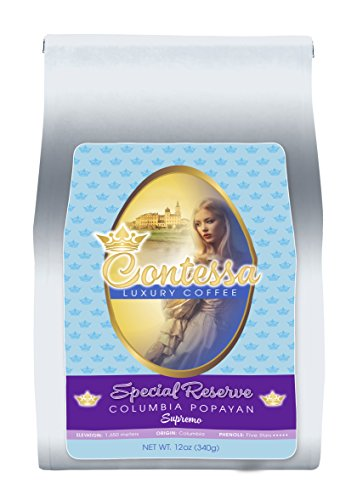 Contessa Coffee – Special Reserve Colombia POPAYAN SUPREMO, Whole Bean 12oz