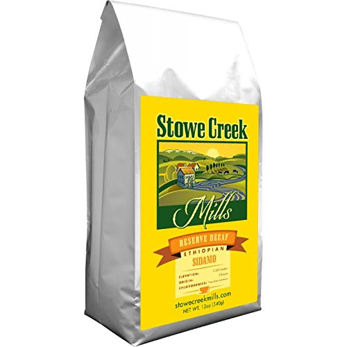 Stowe Creek Mills Coffee – Reserve DECAF Ethiopian SIDAMO, Whole Bean 12oz