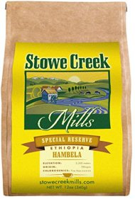 Stowe Creek Mills ETHIOPIA HAMBELLA Special Reserve, Scientifically selected and roasted – whole bean – 12oz