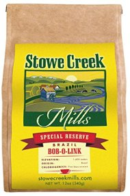 Stowe Creek Mills BRAZIL BOB-O-LINK Special Reserve, Scientifically selected and roasted – whole bean – 12oz