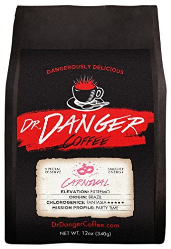 Dr Danger Coffee CARNIVAL Scientifically selected and roasted – whole bean – special reserve – 12oz