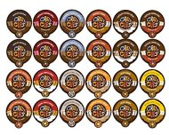 Crazy Cups Chocolate and Flavor Lovers Coffee Variety Sampler Pack for the Keurig K Cup Brewer, 48 count