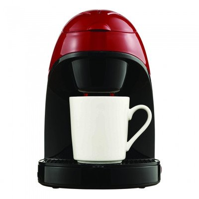 Brentwood TS-112R Single Cup Coffee Maker, 8.75 x 6.75 x 9.5-Inch, Red