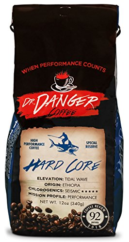 DrDanger Coffee Ideal for Training, Fitness & Competition Scientifically Selected & Roasted Special Reserve Whole Bean, 12 oz