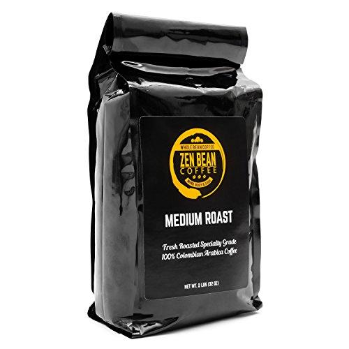 Zen Bean Coffee – Whole Bean Coffee Medium Roast – 2 Lb Bag
