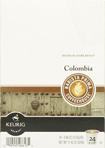 Barista Prima Coffeehouse, Colombia, 24- Count K-Cup Portion Pack for Keurig Brewers
