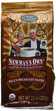 Newman's Own Coffee Nell's Breakfast Blend Ground, 10-Ounce Bags (Pack of 2)