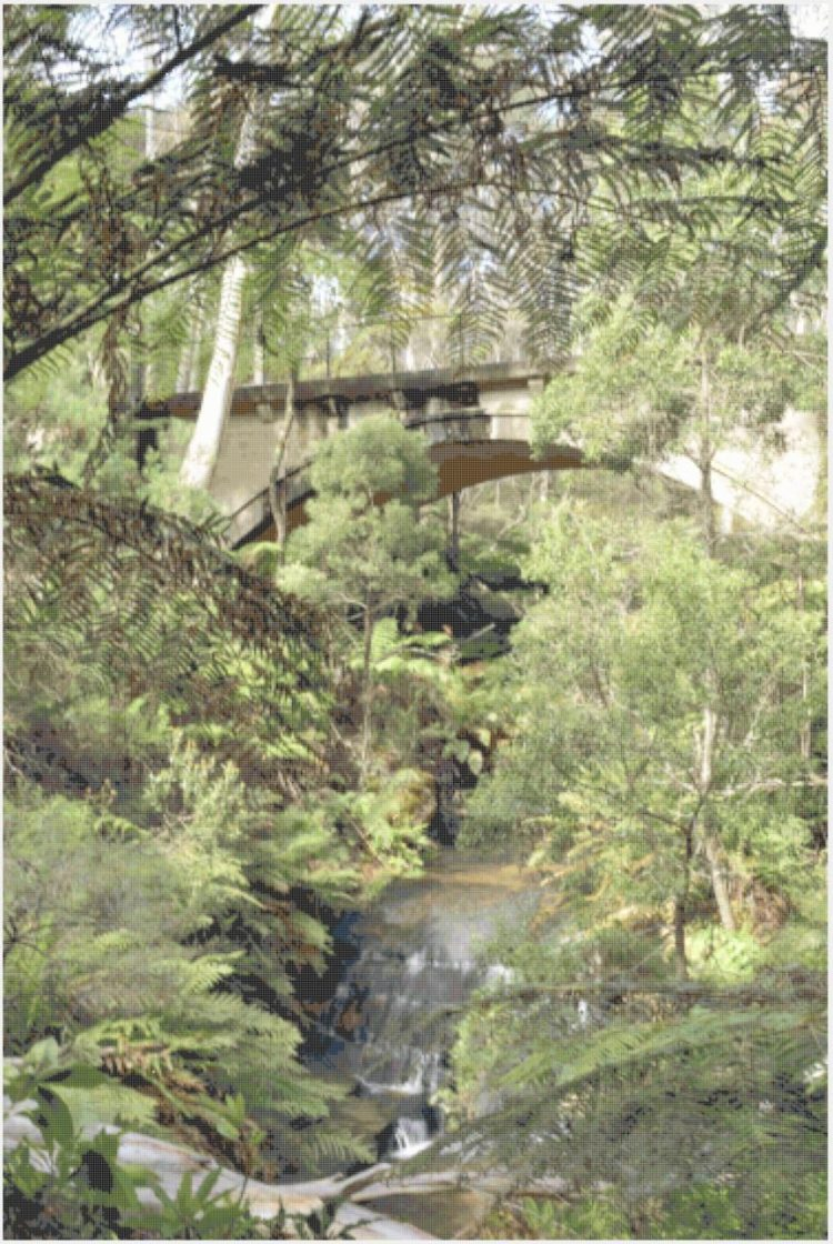 Blue Mountains Walking Trail counted cross stitch cover page