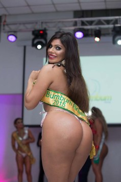 Miss BumBum 2015 winner Suzy Cortez pictured at the finals event in Sao Paulo, Brazil on Monday night. Pictured: Miss BumBum 2015 winner Suzy Cortez Ref: SPL1176201 131115 Picture by: Splash News Splash News and Pictures Los Angeles: 310-821-2666 New York: 212-619-2666 London: 870-934-2666 photodesk@splashnews.com