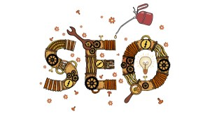 the word SEO made up of tools and gears