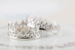 silver rings wedding crown hot dog marketing