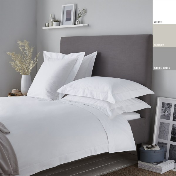 200TC 100% Cotton Percale Oxford Duvet Cover Set