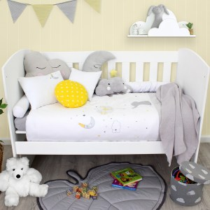 Sheraton Ellies Balloon Embroidered Cot Duvet Set