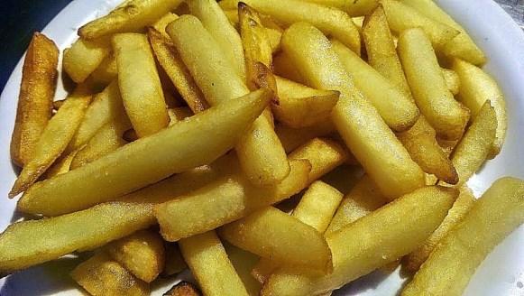 Assiette de frites maison