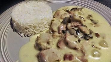 Blanquette de veau avec timbale de riz