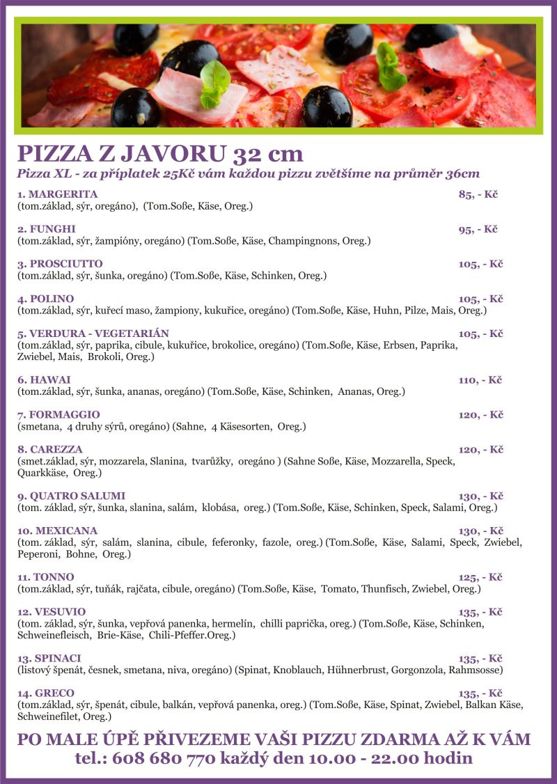 pizza menu1