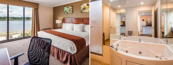 King room with a hot tub inside in Best Western Adams Inn Quincy-Boston