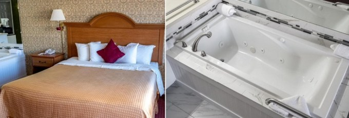 King room with a whirlpool tub in The Admiralty Inn & Suites, Falmouth, MA