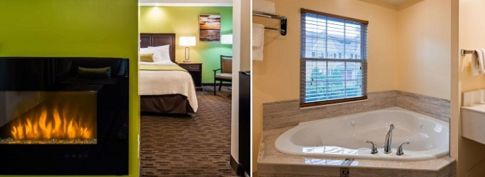 King suite with whirlpool tub in Best Western Plus Cold Spring hotel, MA