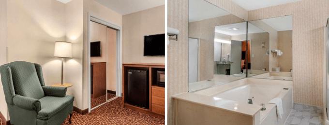 Room with Whirlpool tub in Quality Inn Marietta Atlanta Hotel