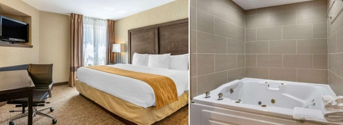 Room with a big hot tub in Comfort Inn & Suites Allen Park-Dearborn Detroit hotel