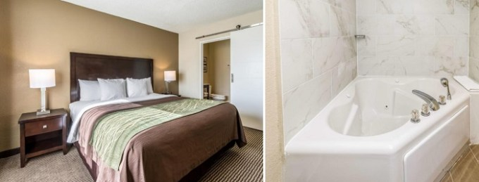 Room with private Whirlpool tub in Comfort Inn Downtown Detroit hotel