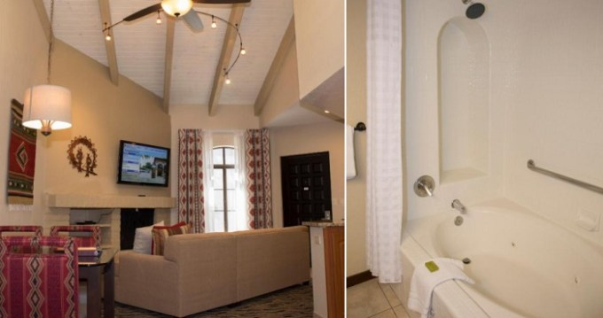 Hot Tub suite with fireplace in Scottsdale Camelback Resort, AZ