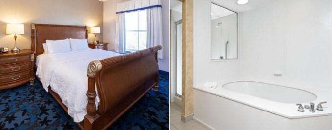 Hot tub suite in Hampton Inn & Suites Jacksonville Deerwood Park, FL