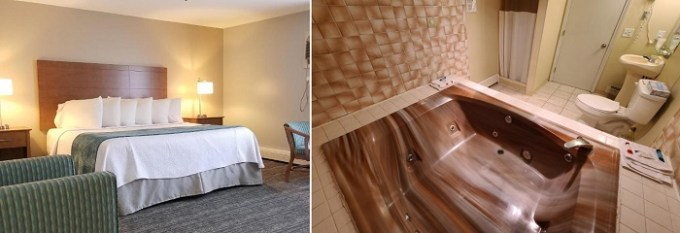 Hot tub suite in Hampton Village Inn, NH