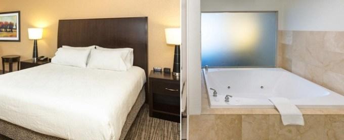Hot tub suite in Hilton Garden Inn Jacksonville Airport hotel, FL
