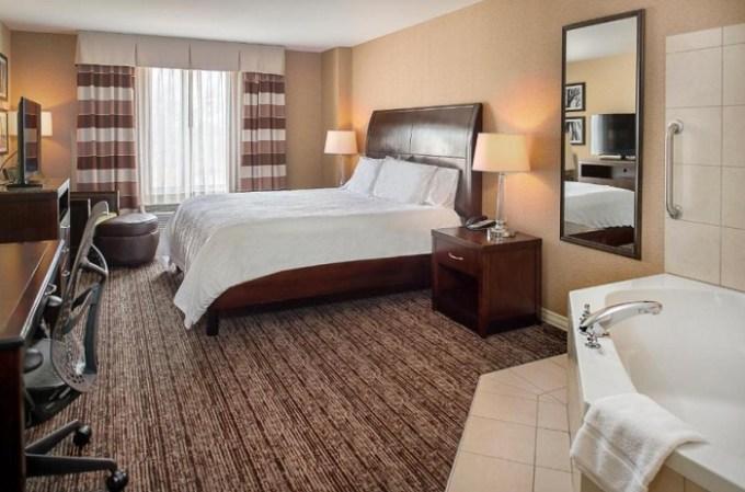 Hot tub suite in Hilton Garden Inn St. Louis Airport, MO