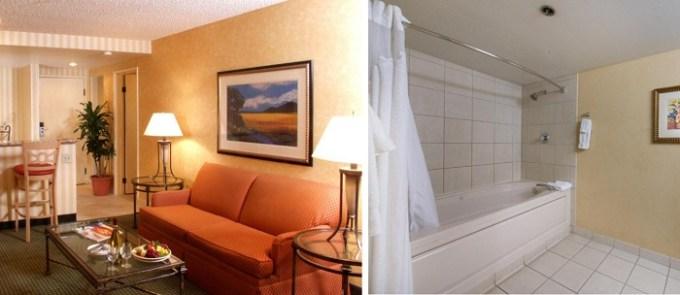 Hot tub suite in Holiday Inn Phoenix West hotel, Arizona